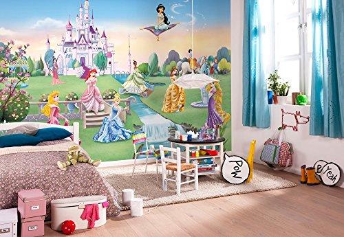 komar-disney-princess-castle-wallpaper-mural-vinyl-multi-colour-8-piece