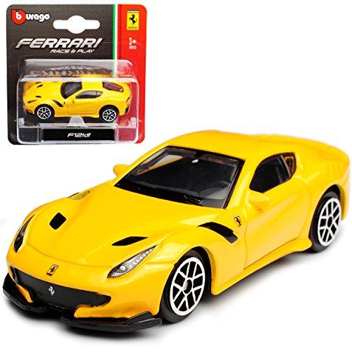 Bburago Ferrari F12 TDF Coupe Gelb 2012-2017 1/64 Modell Auto