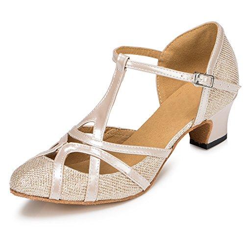 MINITOO ,  Damen Jazz & Modern, Braun - Champagne-5cm Heel - Größe: 41