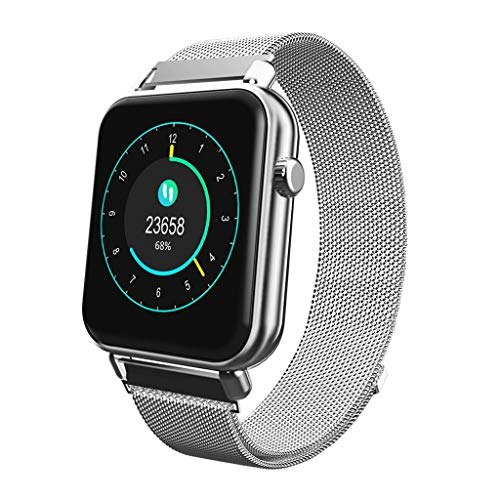 LRWEY Fitness Armband mit Pulsmesser, Wasserdichte Bluetooth Smart Uhr Pulsuhr mit iOS Android Handy