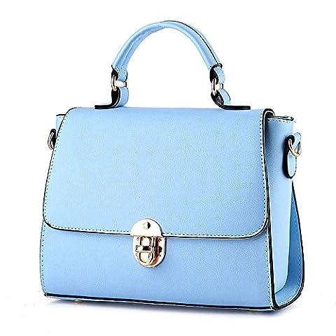 koson-man en PU imitation cuir pour femme Vintage Boucle Beauté Sacs Sac à Poignée Supérieure Sac à main, bleu (Bleu) - KMUKHB093