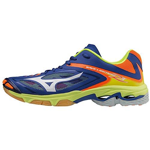 Mizuno Wave Lightning Z3, Chaussures de Volleyball Homme bleu marine/orange/jaune