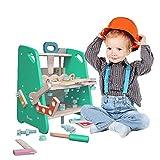 Arkmiido Giocattoli da Banco in Legno per Bambini, Giocattoli in Legno Fai-da-Te, Giocattoli da Costruzione per Bambini
