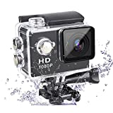 #9: Action Camera 1080P Camera 2-Inch Lcd 140 Degree Wide Angle Lens Waterproof Diving(upto 30m) Sport Camcorder