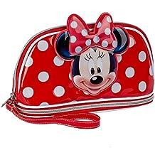 Karactermania Minnie Mouse  Bolsa de Aseo, 24 cm, Rojo