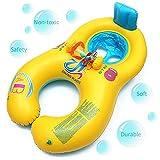 Inflable Bebé Asiento,BeautyPO Inflable Madre Bebé Piscina natación anillo,Bebé Inflable Juguetes de Piscina con Silla de Seguridad para la Actividad Familiar