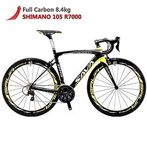 51cC%2BCyl0dL. SS300 SAVADECK Herd 6.0 700C Bici da Strada T800 Fibra di Carbonio con 22 velocità Shimano 105 R7000 Continental Ultra Sport…