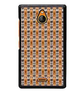 Fiobs Designer Back Case Cover for Nokia X2 (jaipur rajasthan african america cross pattern)