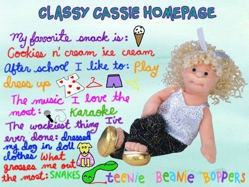 Ty Teenie Beanie Boppers Classy Cassie Soft Plush Rag Doll by Teenie Beanie Boppers