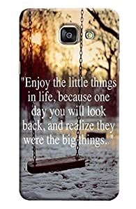 Findstuff Printed Back Cover For Samsung Galaxy A7 2016