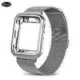 Pictury Uhrenarmband für Apple Watch, Edelstahlgewebe Milanese Sport Flexible Armbandschlaufe für Iwatch Serie 1/2/3 (42mm)