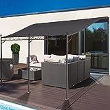 ProBache - Auvent pergola adossé pour terrasse GM 3 x 4 m avec toile grise
