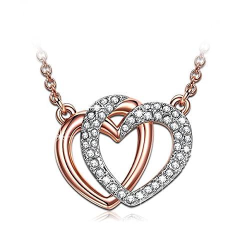 J.NINA Kette Damen mit kristallen von Swarovski Herz Schmuck Geschenk