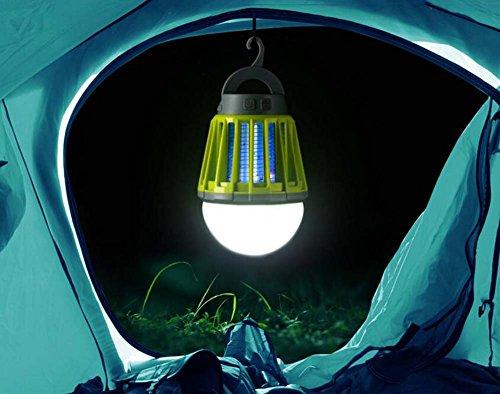 Preisvergleich Produktbild Waschbar LED Moskito-Lampe Multifunktions-LED-Lampe Im Freien Beweglicher Moskito-Insektenvernichter Fly Swatter Camping Zelt USB Wasserdicht Dimmable Lampe (Color : Green)