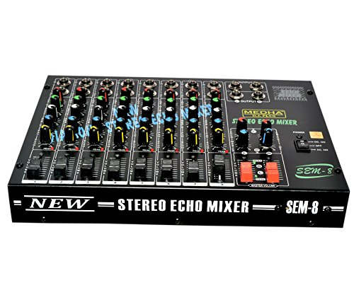 MEDHA D.J. PLUS 8 Channel Stero Echo Mixer