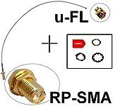 Generic JRT-ADE1-151014-38 [7-1218] bel RP-SMA Adapter Kabel RP-SMA .FL Antenne uFL Wlan WiFi Speedport Fi Spee Fritz!Box Pigtail Ipex u.FL Antenne Adapter