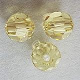 Pulsera Cristales de Swarovski 4 mm topacio - 20 unidades