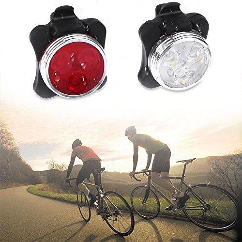 Broadroot MTB Fahrrad LED Scheinwerfer Set Rücklicht USB Ladekabel Radfahren im Freien