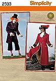 Simplicity 2333 - Patrones de costura para disfraces de hombre (tallas XS, S y M)