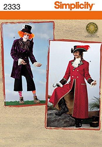 Simplicity BB L-XL Schnittmuster 2333Herren Kostüme