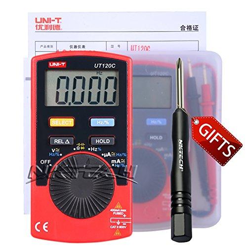 nktech tl-1Schraubendreher Uni-T UT120C Mini Pocket PDA Auto von Digital Multimeter AC/DC Spannung Strom Widerstand Kapazität Frequenz Kontinuität Dioden Tester Meter