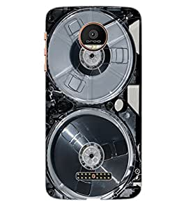 ColourCraft Retro Video Cassette Design Back Case Cover for MOTOROLA MOTO Z PLAY DROID