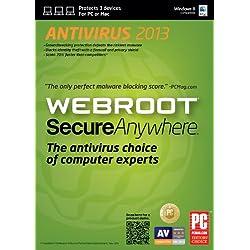 Webroot SecureAnywhere AntiVirus 3 Device DVD(PC/Mac)