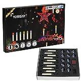 Yorbay (Versión de actualización) LED Navidad velas GS. RGB/Blanco Cálido Con Mando A Distancia con temporizador como decoración Navidad/para árbol de Navidad, bodas, fiestas (Set de 20m ())