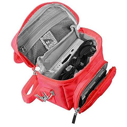 Orzly Travel Bag für alle Nintendo DS Konsole Modell Versionen mit Faltbarer Bildschirm (Original DS / 3DS / DS Lite / 3DS XL / DSi / New 3DS / New 3DS XL / 2DS XL / etc.) - Tasche enthält: Schultergurt + Tragegriff + Gürtelschlaufe + Fächer für Zubehör (Spiele / Stifte / Lade Kabel / Amiibo / etc.) -