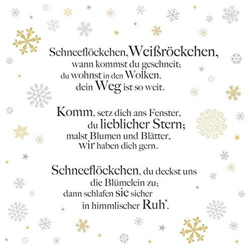 AvanCarte GmbH Servietten Weihnachten Winter Schneeflöckchen 20 Stück 3-lagig 33x33cm