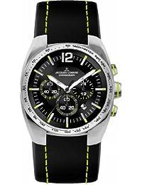 Jacques Lemans Herren-Armbanduhr XL Sport Chronograph Quarz Leder 1-1688F
