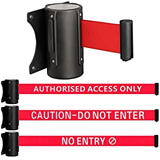 Hardcastle 2m Wall Mounted Safety/Security Barrier Belt - Choice of Design