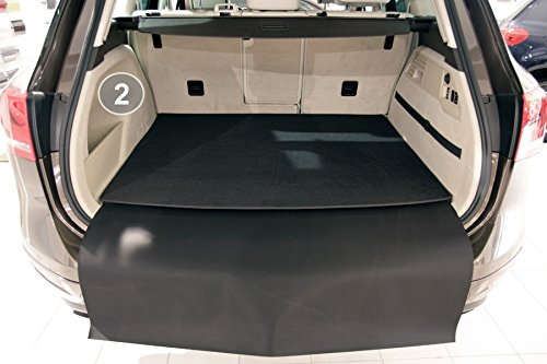 teileplus24 BM2931 Kofferraummatte 3-teilig mit Ladekantenschutz und Rückbankschutz