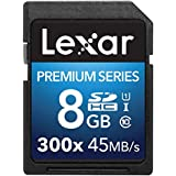 Lexar Premium Series 8 Go Carte mémoire SDHC Classe 10 UHS-I 300x LSD8GBBBEU300