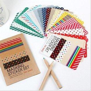 Recharge Lot de 27feuilles de masquage Set de stickers avec poche ative stickers-deco Sticker