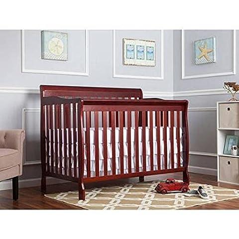 Dream on Me Ashton 5-in-1 Fixed-Side Convertible Crib, Cherry by Ashton