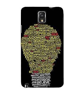 Fuson Designer Back Case Cover for Samsung Galaxy Note 4 :: Samsung Galaxy Note 4 N910G :: Samsung Galaxy Note 4 N910F N910K/N910L/N910S N910C N910Fd N910Fq N910H N910G N910U N910W8 (Bulb of words theme)