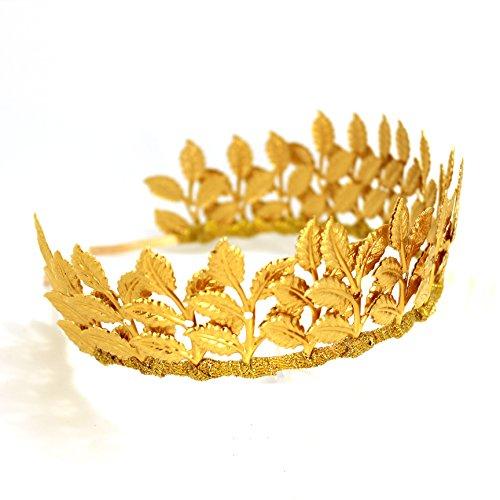 OUMOU Frauen Gold Lässt Hochzeit Kopfstück Diadem Krone Für Party - Abschlussball - Wahl (Kostüm Express Zurück)