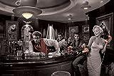 Póster Famosos de Hollywood, bar