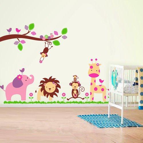 Enorme Elefante AY869 Adhesivos murales/calcomanías de pared/papel de empapelar de animales de la jungla Fuloon, decoración artística para el hogar, adhesivo mural para habitación de chicos, chicas, niños, niñas, pequeños, niños, guardería, color mezclado