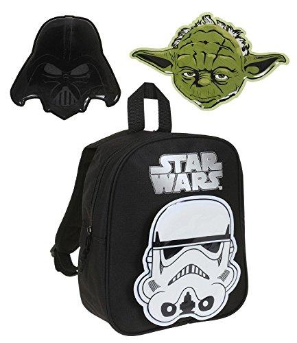 Star Wars-The Clone Wars Darth Vader Jedi Yoda Ragazzi Zaino - nero Nero