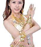 YiJee Damen Tribal Schmuck Belly Dance Orient-Set Kette/Ohrringen / Armband Gold