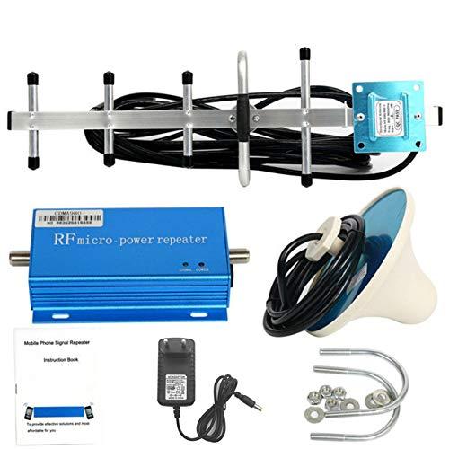 WOSOSYEYO 850MHz CDMA Handy-Signal-3G 4G-Verstärker-Verstärker-Verstärker mit Lufthoch Grain Signal Extender Kit für Home Office (blau) Cdma-handy
