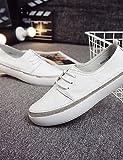ZQ gyht mujer-tacón Schuhe plano-comfort/geschlossene Spitze/Stiefel zu moda-sneakers zu der Mode/mocasines-casual-cuero-blanco, Cremefarben US 8 / EU 39 / UK 6 / CN 39