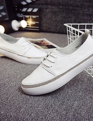 ZQ gyht Scarpe Donna-Sneakers alla moda / Mocassini-Casual-Comoda / Chiusa / Stivali-Piatto-Di pelle-Bianco , cream-us8 / eu39 / uk6 / cn39 , cream-us8 / eu39 / uk6 / cn39 cream-us8 / eu39 / uk6 / cn39