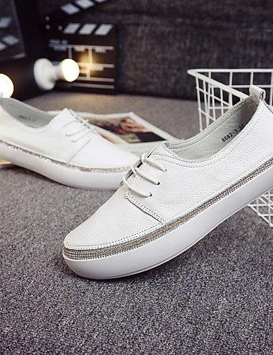ZQ gyht Scarpe Donna-Sneakers alla moda / Mocassini-Casual-Comoda / Chiusa / Stivali-Piatto-Di pelle-Bianco , cream-us8 / eu39 / uk6 / cn39 , cream-us8 / eu39 / uk6 / cn39 cream-us8 / eu39 / uk6 / cn39