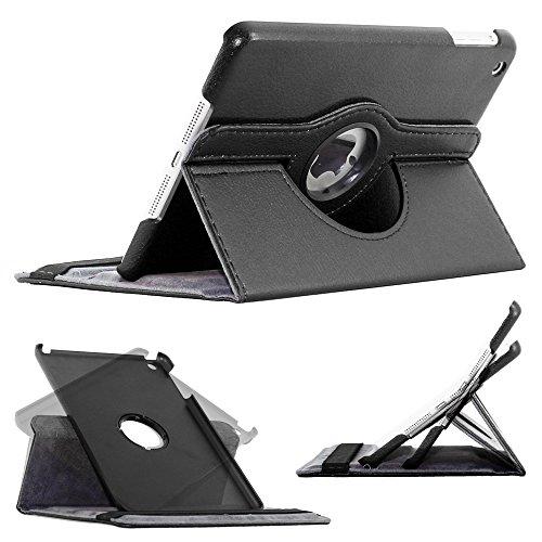 ebestStar - pour Apple iPad Mini 1, Mini 2, Mini 3 - Housse Coque Etui PU cuir Support rotatif 360° + Film, Couleur Noir [Dimensions PRECISES de votre appareil : 200 x 134.7 x 7.2/7.5 mm, écran 7.9'']