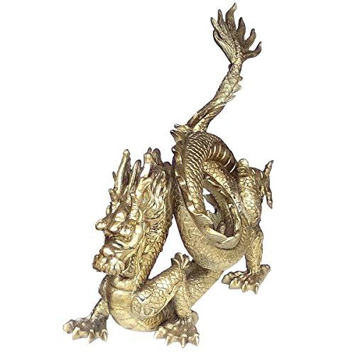 Preisvergleich Produktbild Miganeo Dekofigur Chinesischer Drache 32 x 30 x 15cm Figur Skulptur 4501