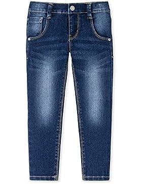 Blaue Slim Fit Jungen-Jeans von SCHIESSER mit verstellbarem Bund - superbequem, trendy und mit vielen liebevollen...