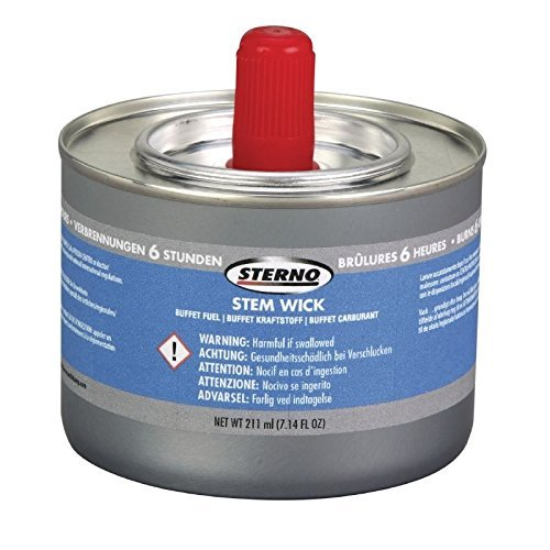 12x Sterno 6 Hour Superwick Chafing Fuel Catering Gel Tin Burn Warmers by Sterno Sterno-gel
